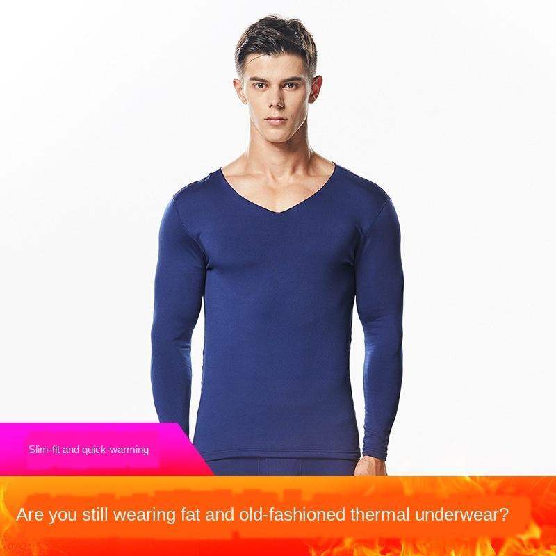 gqLok 7qzi4 erkekler elyaf Sıcak sonbahar UND giysi termal yün keçeyi ısıtma Erkek çift taraflı fırça pantolon iç grubu Kesintisiz kalınlaştırılmış