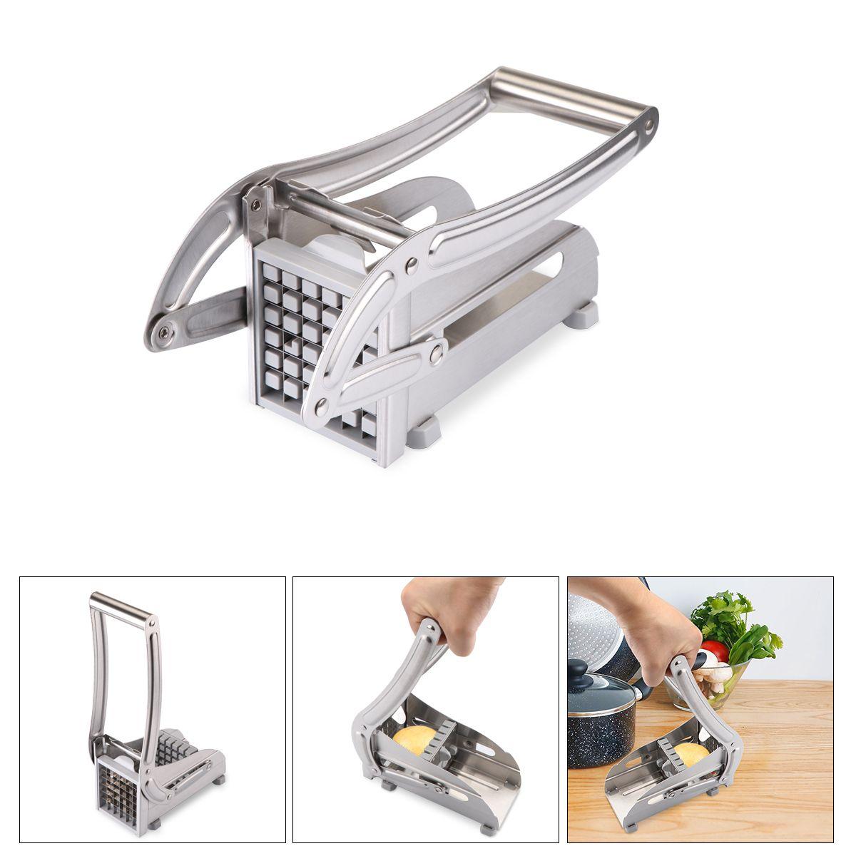 رقائق البطاطس فعالة ماكينة المقاوم للصدأ الفرنسية فراي البطاطس القاطع القطاعة تقطيع شريحة الخيار قطع أدوات المطبخ