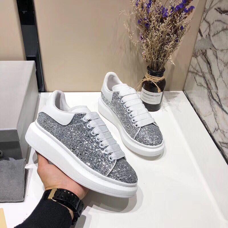 Fashion Designer Sneaker Homem Mulher Casual Sapatos de couro genuíno malha pontas do dedo do pé raça Runner sapatos ao ar livre Trainers 030247