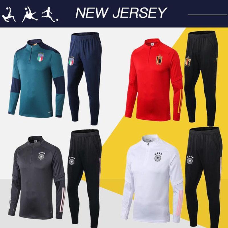 Espagne football Survêtement 2020 Belgique Italie kits de veste de football Survetement de Football 20/21 Mexique équipe nationale chandal futbol