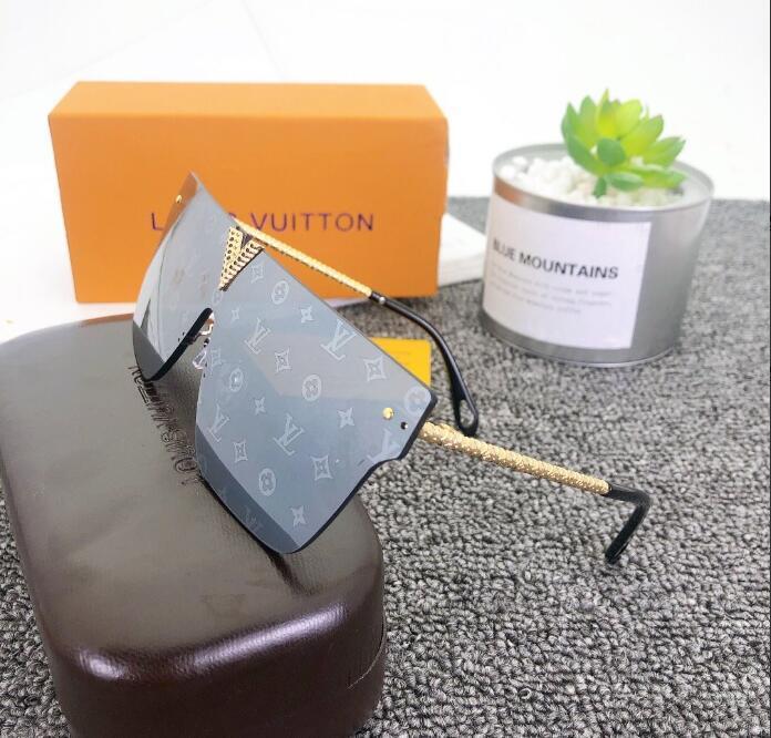 2020 فاخر مصممي الأزياء كبير معدن الشمس عدسات نظارات للنساء رجال زجاج حماية من الأشعة فوق نظارات H1