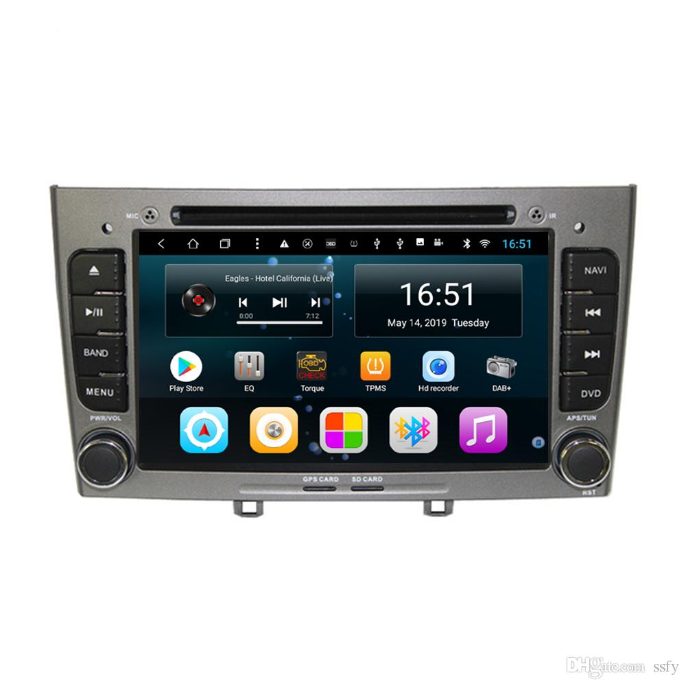 Android 9inch 8-core for peugeot 308 CD Car Steering Wheel USB vidio HD1080 support you set any wallpaper Wifi Head Unit
