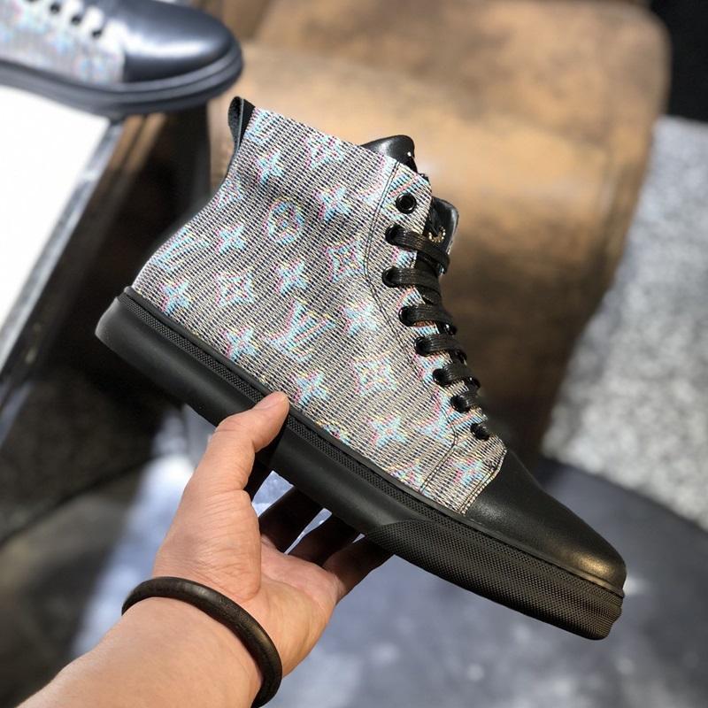 2020 A7 новые тенденции моды высокого Top Casual Мужская обувь, высокого качества Комфортный люкс Мужская обувь Оригинальная упаковка Box Zapatos Hombre