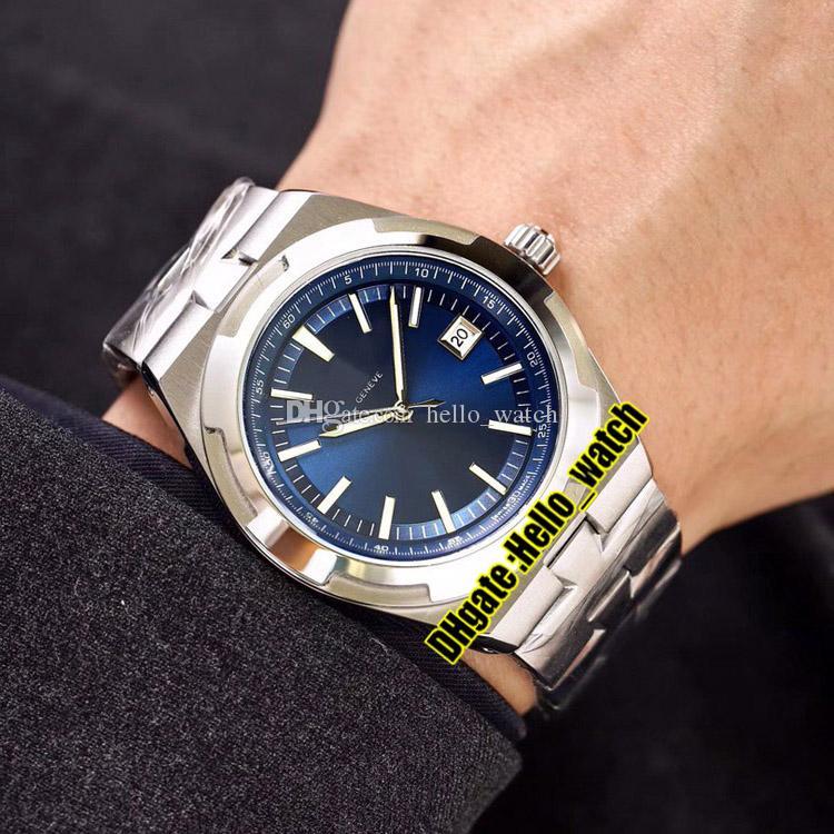Дешевые Новые Зарубежные 4500V / 110A-B128 Синий Циферблат A2813 Автоматические Мужские Часы Дата Браслет Из Нержавеющей Стали Высококачественные Спортивные Мужские Часы.