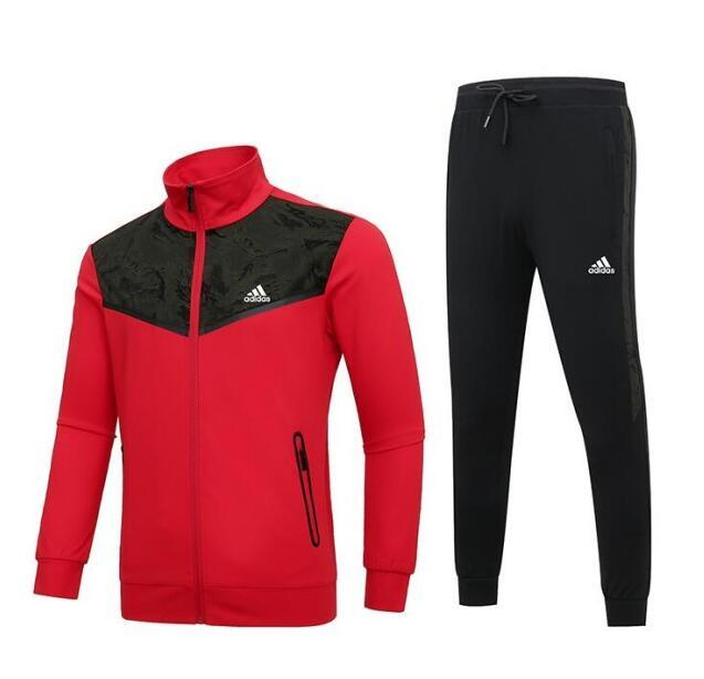 2020 New Brand Design Tracksuits For Mens Track Suit Autumn Brand Sportsuit Mens Tops Pants Suits Clothing 2 Color L-5XL Optionals