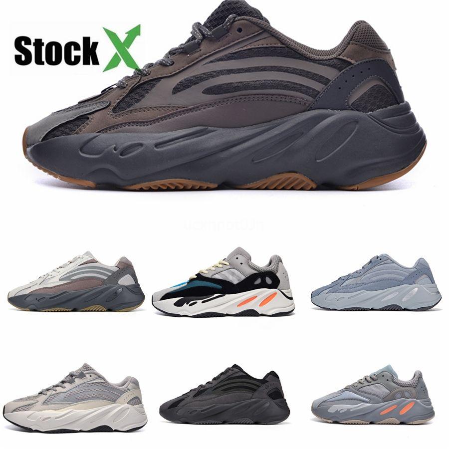 Yz 700 B75571 Wave Runner кроссовки Кроссовки Кроссовки Sneaker Trainer Мужчины Женщины моды обуви Kanye West Top Quality A25 # DSK499