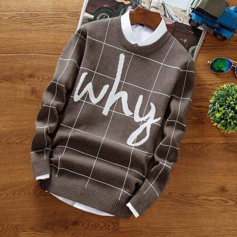 Maglione di Natale Uomini 2017 Nuova lettera hip hop stampate maglioni maschili pullover casual da uomo di alta qualità calda maglia da uomo maglia magliaMX190926