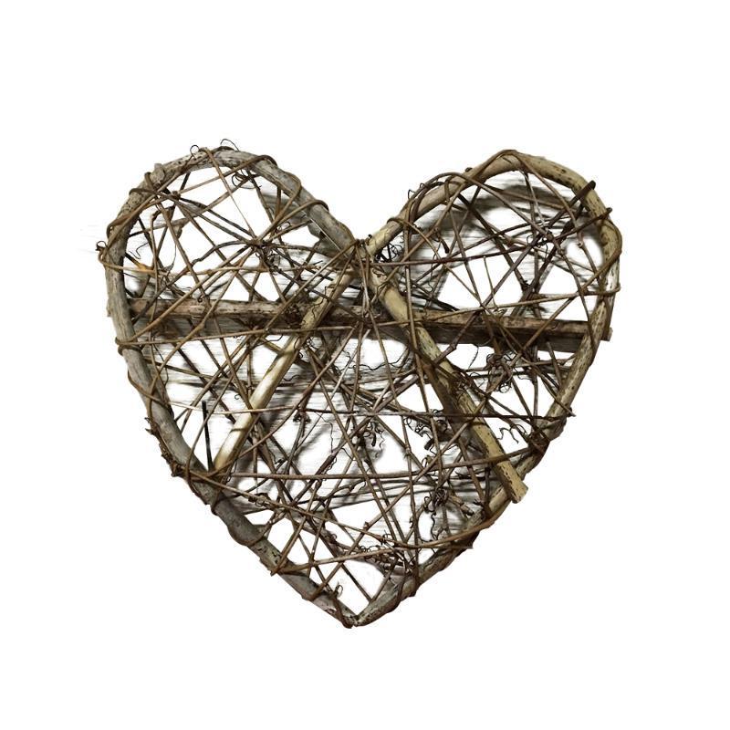 Flores decorativas guirnaldas corazón corona de navidad artificial ratán boda árbol decoración bricolaje colgante tejido guirnaldas artesanales