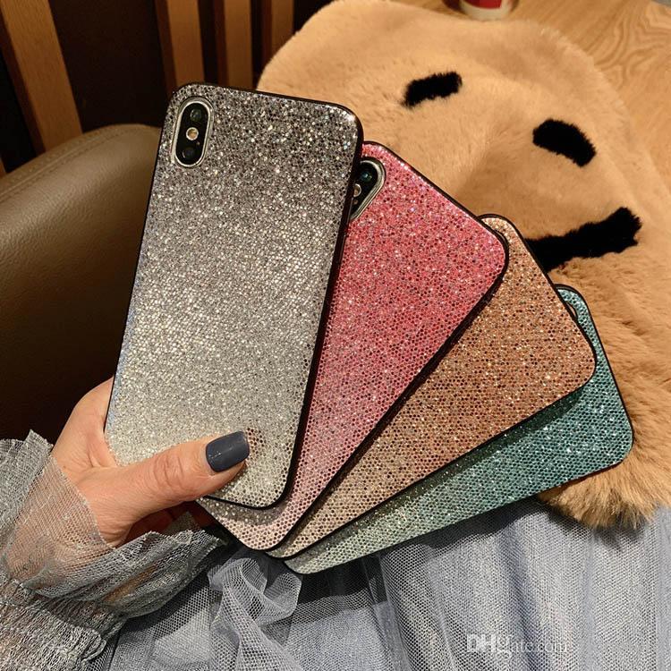 Ultra Thin PC Farbe Gradual Changed Phone Cases Kontrast Farbe ändern Acryl-Telefon-Kasten für iPhone 7 8PLUS XR X MAX 11 PRO