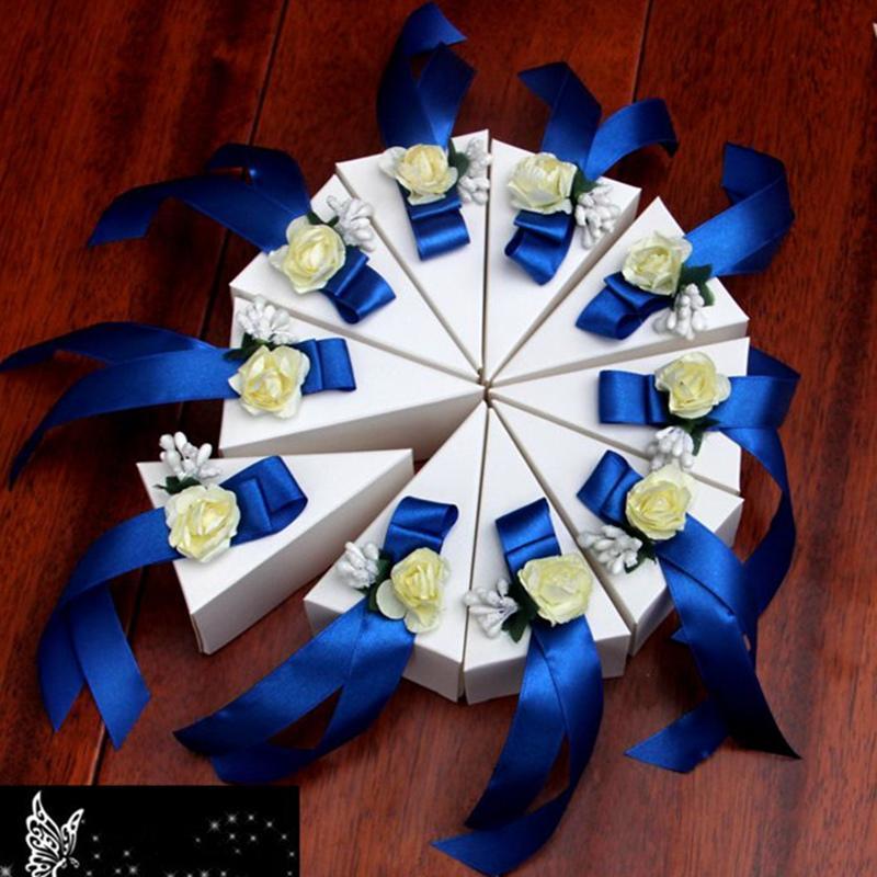 10 Stück / Set Unique Ländliche Hochzeit Dekoration für die Braut, 7Colors Süßigkeit Storage Box Hochzeit Souvenirs, Casamento Geschenk Kartonagen