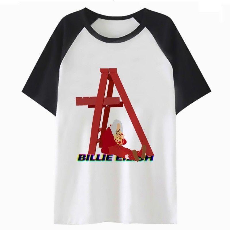 billie eilish t shirt abbigliamento uomo harajuku maschio tee streetwear hip per tshirt top t-shirt hop divertente AADB