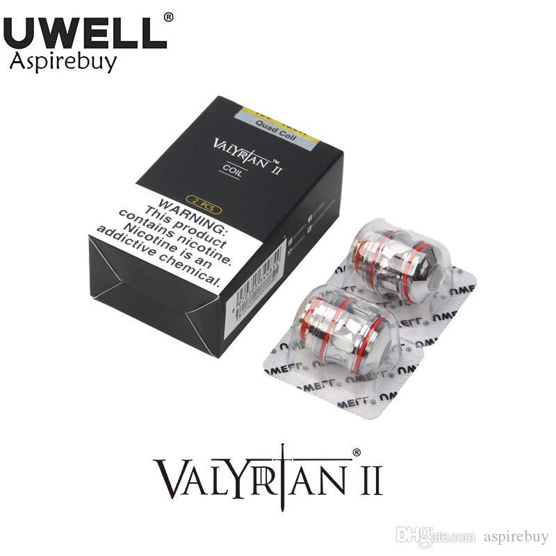Uwell Valyrian II Spulen UN2 Single Meshed Coil 0,32 Ohm Valyrian 2 Spule Für Valyrian II Tank UN2-2 UN2-3 Vierfach 0,15 Ohm Authentisch