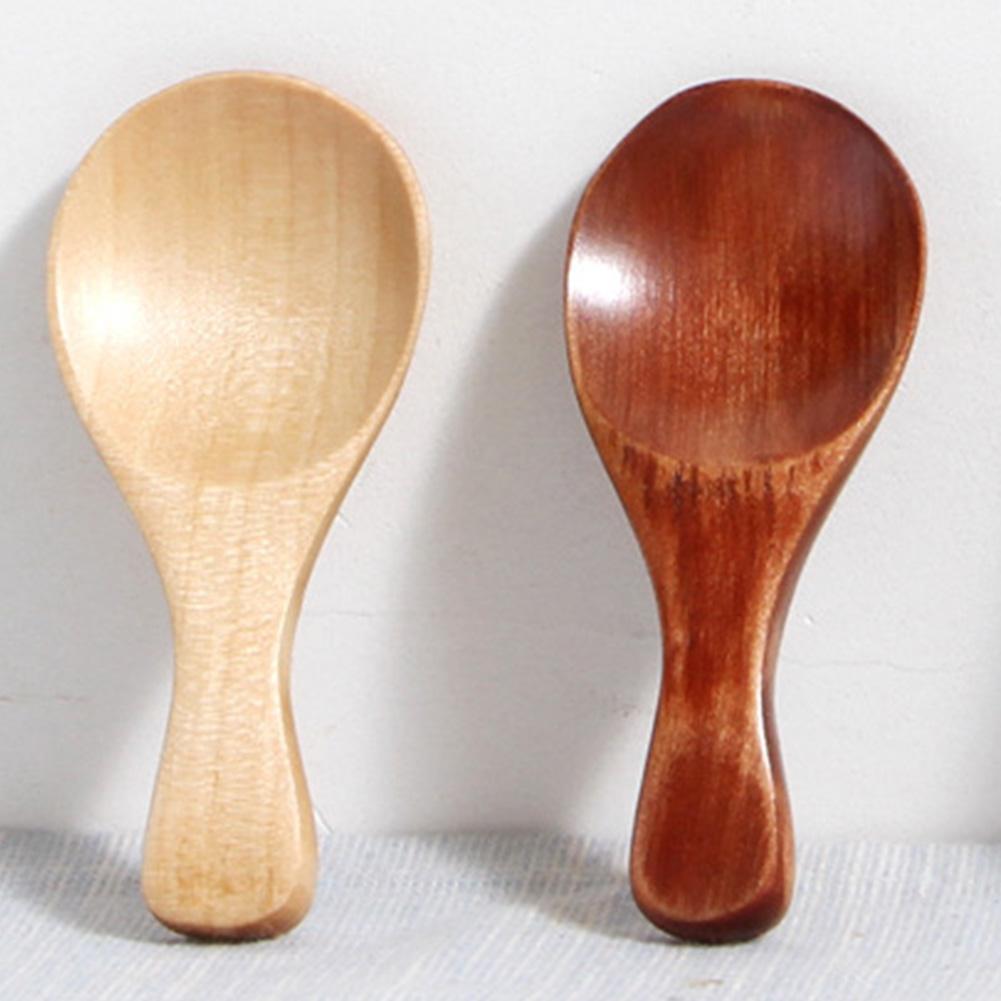 Mini Wooden Spoon, pequeno pouca colher de madeira para colher de chá mel Café Tempero Sal Açúcar