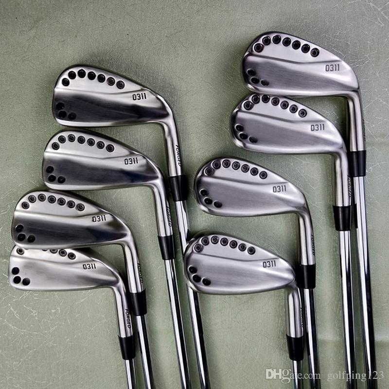 PG golf clubs Silver 0311 iron golf forged iron golf club 3-W, a set of 8 R / S head cover steel rod