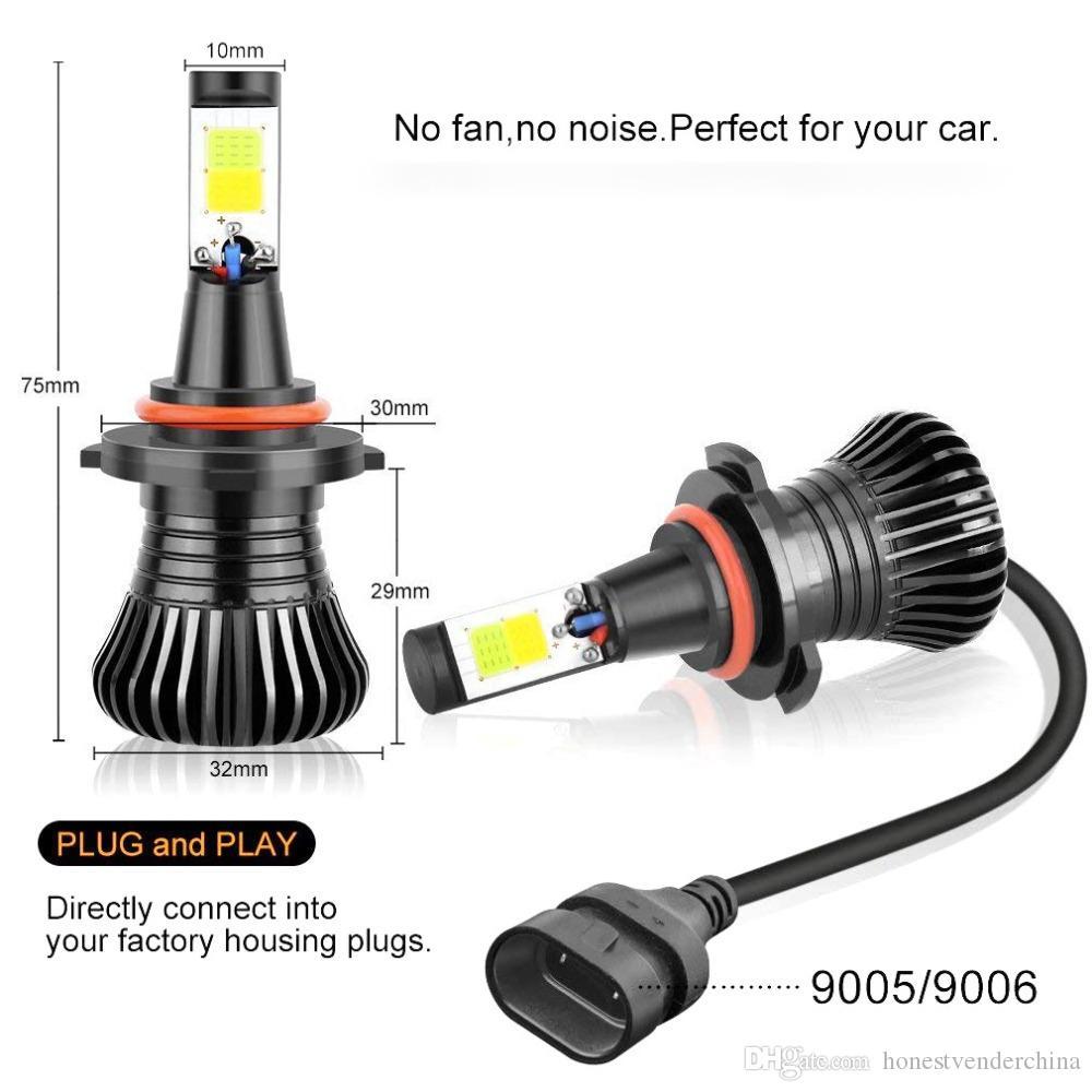2X H11 LED automática de faros antiniebla Bombillas H7 9005 HB3 9006 HB4 LED 21W fichas COB 6000K 3000K blanca ámbar amarillo color dual de inactividad Car luces de conducción