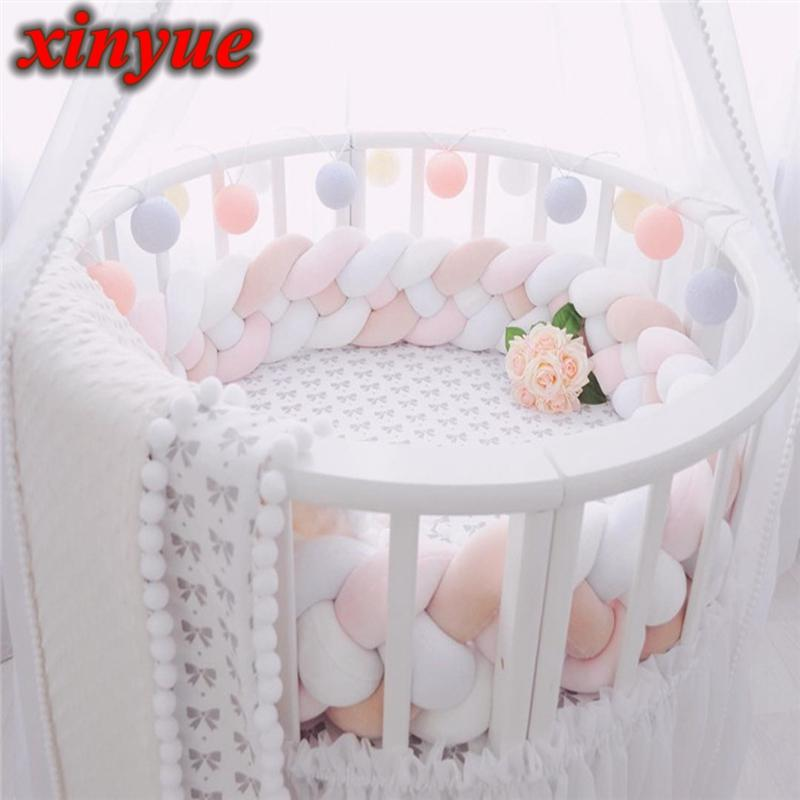 1.5M/150CM Cushion Bumpers in the Crib For Newborn Baby Room Protector Baby Bed Pillow Bumper Decor Cot Infant Things For