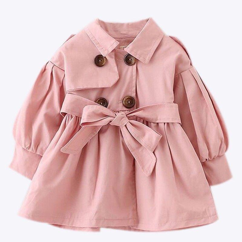 신생 아기 소녀 옷 2017 가을 보우 코트 유아 의류에 대한 유아 의류 아기 소녀 패션 겨울 의류 베이비 코트