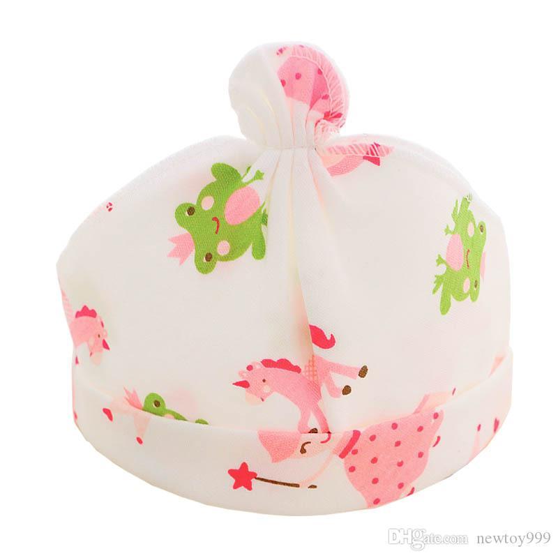 Gorras de bebé 100% algodón Impreso Tapas de bebé lindas para 0-9 meses Recién nacido Accesorios para bebés Regalo de Navidad