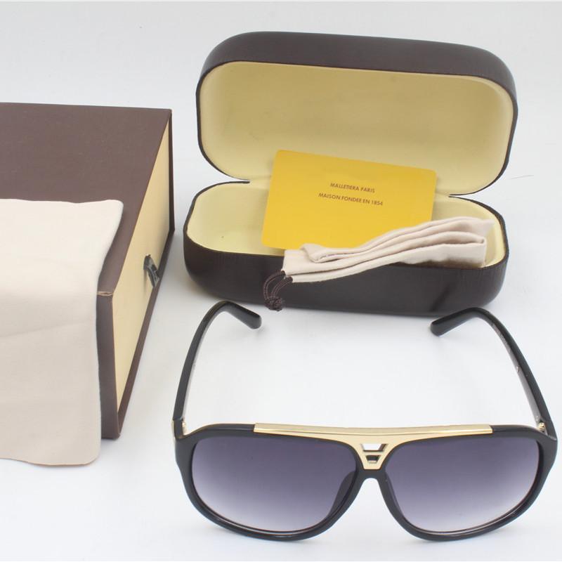 Z105 CALIDAD DE MODA LASER Gafas de sol Logotipo Vintage Hombres con marco de oro brillante Nave Diseñador de pruebas Paquete Top Paquete Mujer Retro Libre KVBOH