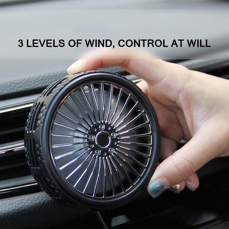 Renkli LED Işık Aksesuarları İle Hava Soğutma Evrensel Yaz Araç USB Fan Araba Klima Fan Otomatik Güçlü