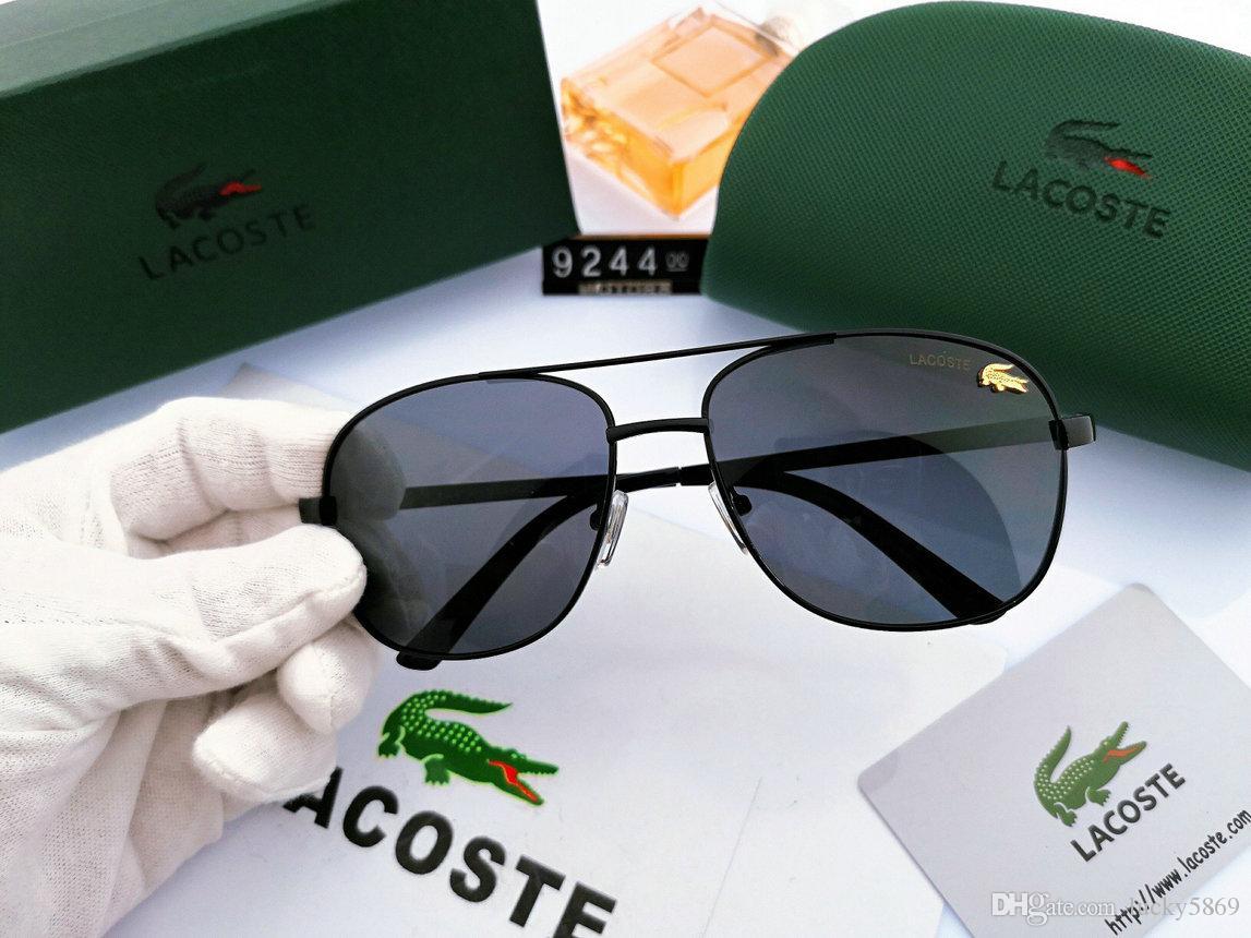 Nuevas gafas de sol de los hombres de lujo LacosterssMen diseñadores sin marco cuadrado lente UV 400 estilo de moda vintage de metal gafas de sol con el caso original 969
