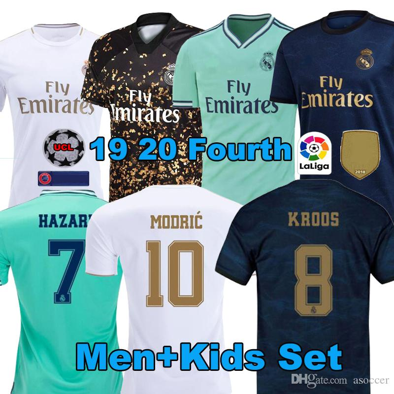 2020 Thai soccer jersey Real Madrid home HAZARD JOVIC camiseta de futbol 2019 2020 VINICIUS ASENSIO football shirt Men kid camisa de futebol