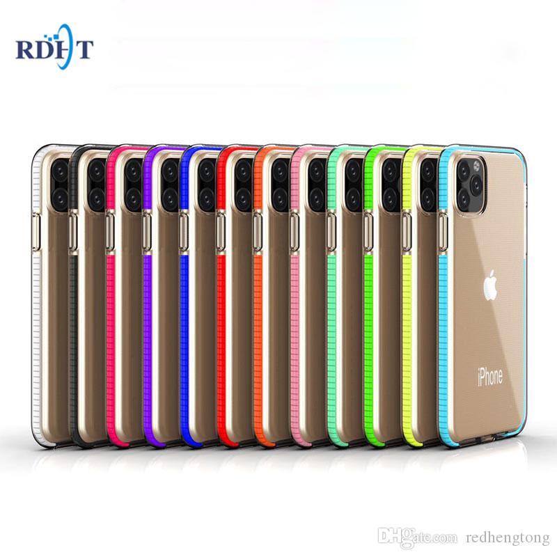 Deux tons doux TPU clair antichocs cas de téléphone pour l'iPhone 11 Pro Max X XS MAX XR 8 Plus Transparent couverture arrière