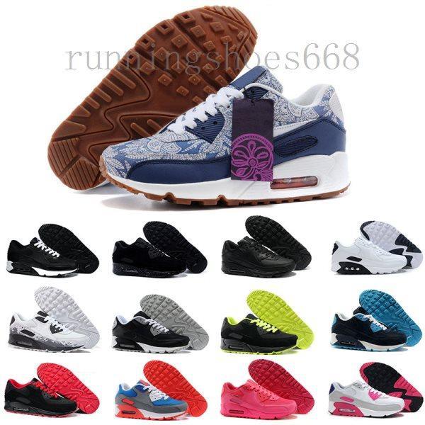 nike air max 90 airmax 2019 zapatos de los hombres clásicos de 90 hombres y mujeres zapatos de entrenamiento del amortiguador de aire de la superficie de los zapatos ocasionales