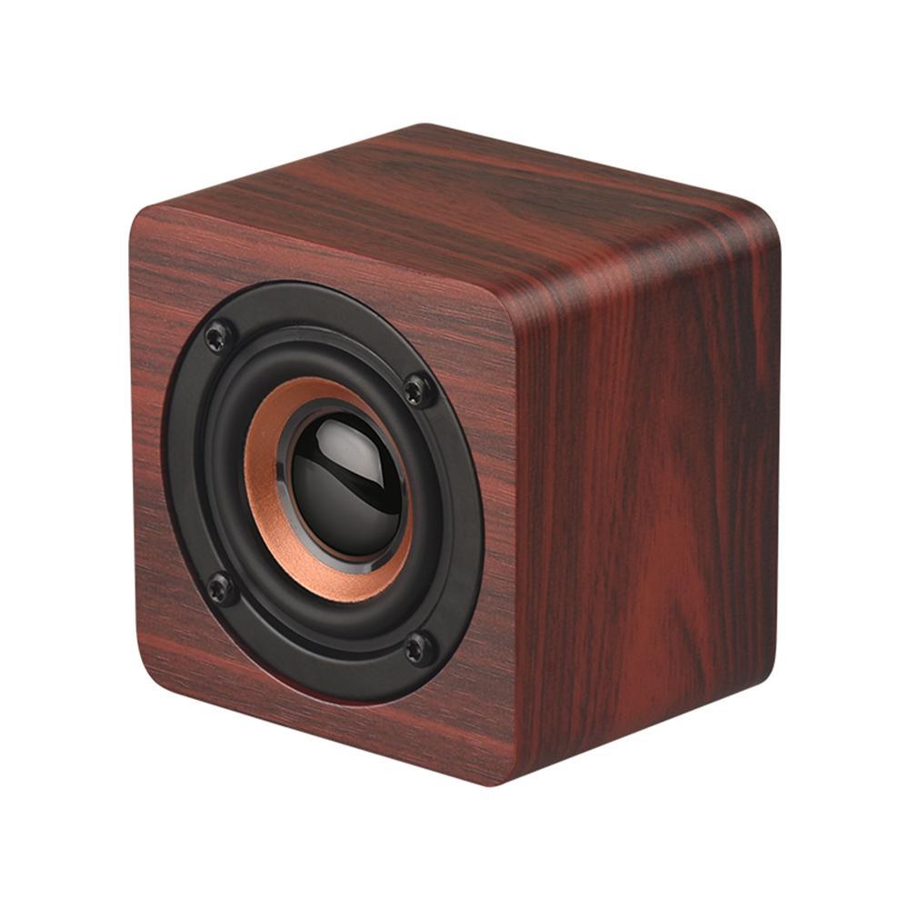 Q1 alto-falantes portáteis de madeira Bluetooth sem fio Subwoofer Bass Poderoso Bar de som de som de som de música para laptop smartphone