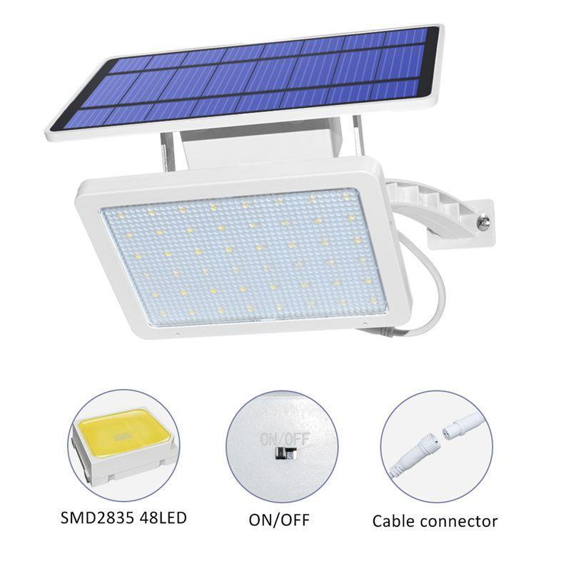 Umlight1688 48 leds Solarlicht Super Helle Einstellbare Beleuchtungswinkel Outdoor Solar Gartenlampe Wasserdichte Beleuchtung Für Wall Yard Street
