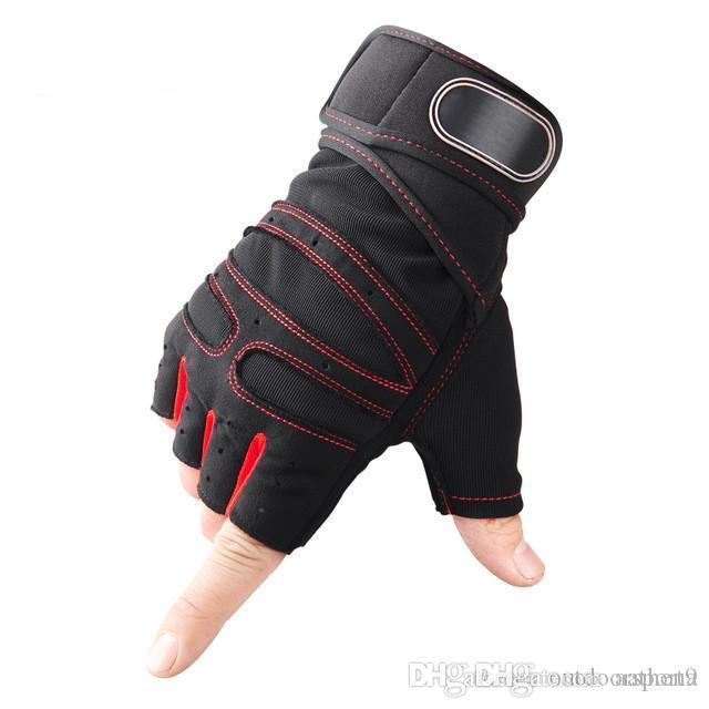 Quatre demi-gants de remise en forme de doigts pour les hommes et les femmes section mince équipement été sport formation bracelets usure de glissement