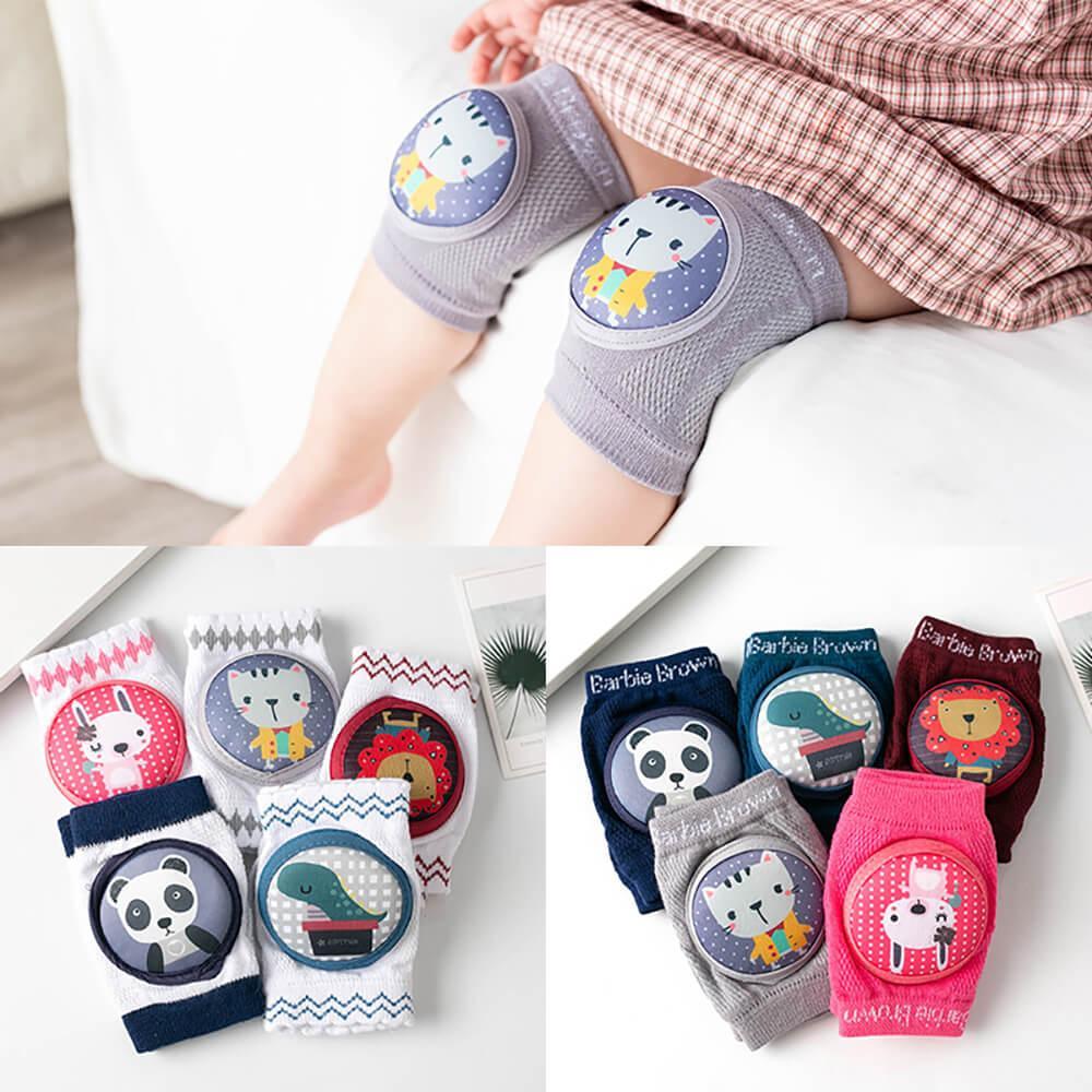 0-36 Ay Bebeğin Kaymaz Bebek Dizkapağı Yaz Çocuk Pamuk Dizlik Bebek Emekleme Diz Pedleri Terry Kalın Mesh Nefes