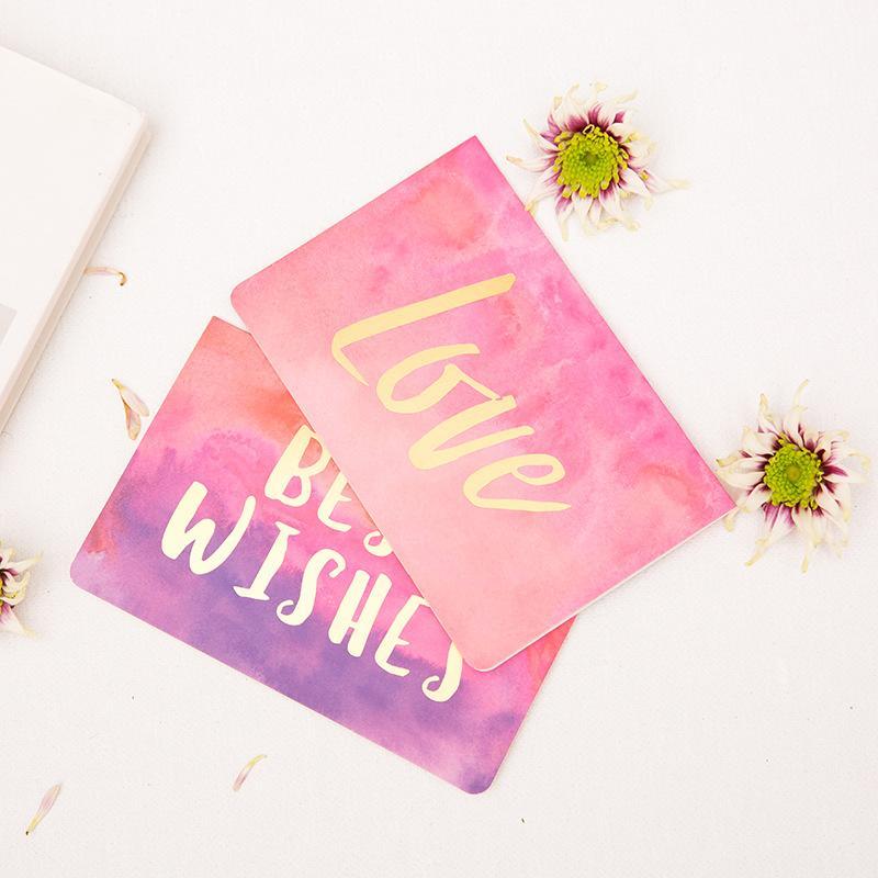 12.8 * 8.4 Criativo Hot Stamping Cartão Envelope Obrigado Aniversário Amor Cartão De Casamento Best Wish Greeting Envelope Set