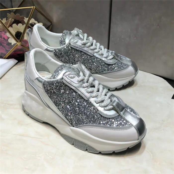 Les nouvelles chaussures de sport noctilucent design femmes chaussures de cuir véritable plate-forme polyvalente de petites chaussures blanches d'expédition epacket gratuit