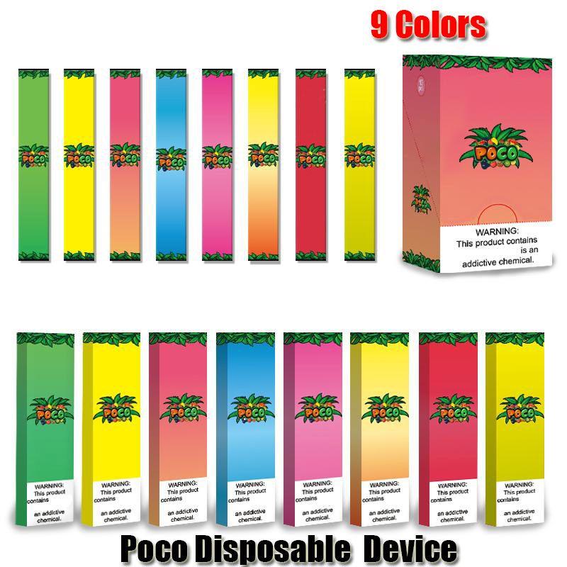 Poco Disposable Device Pod Kit 280mAh Battery 1.3ml Cartridge Vaporizers Vape Empty Pen VS Pop Bar Posh Plus Puff