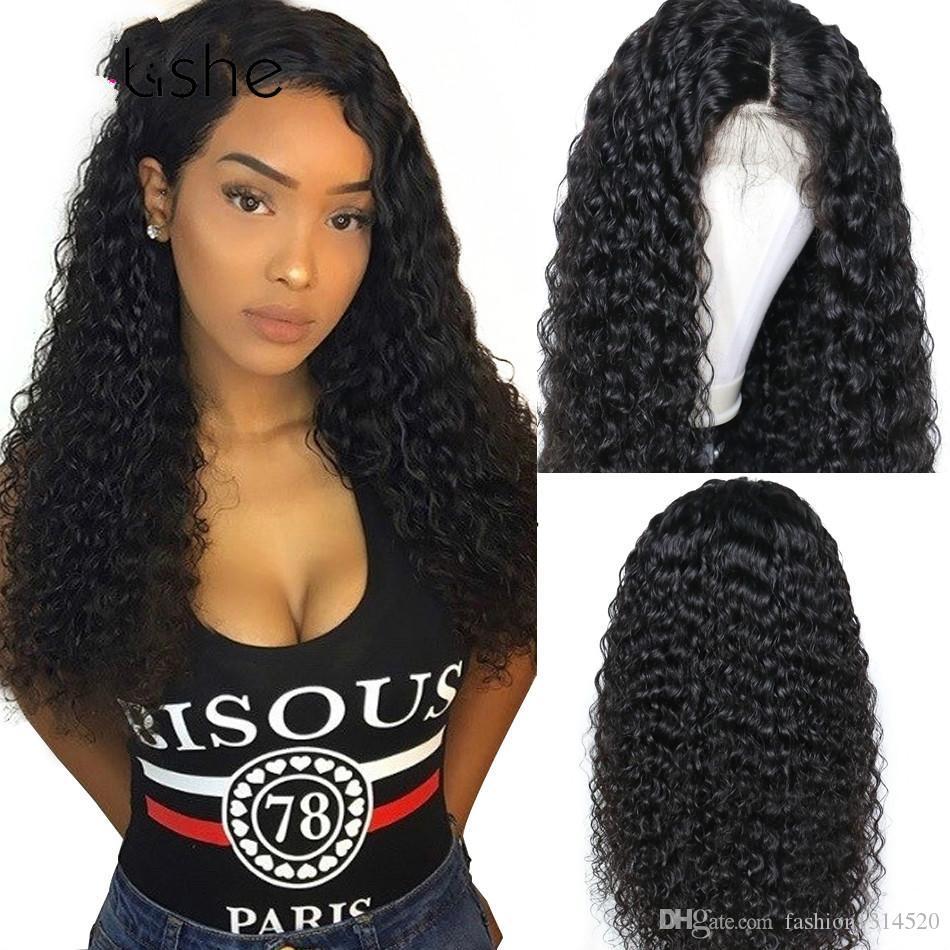 = Parrucca per capelli a onda profonda parrucca per capelli umani ricci Remy brasiliano 180 densità pre pizzicato 13x6 parrucche anteriori per capelli umani in pizzo