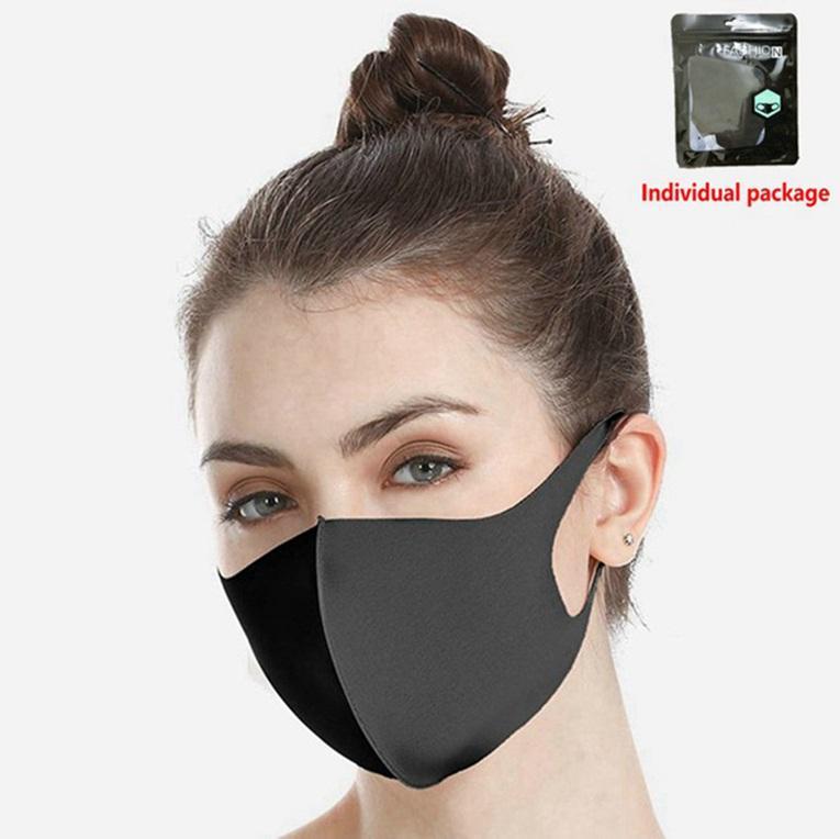 Disponibile! Anti Polvere Viso Bocca copertura PM2.5 Maschera respiratore antipolvere anti-batteriche lavabile riutilizzabile ghiaccio seta cotone Maschere Strumenti 600pcs