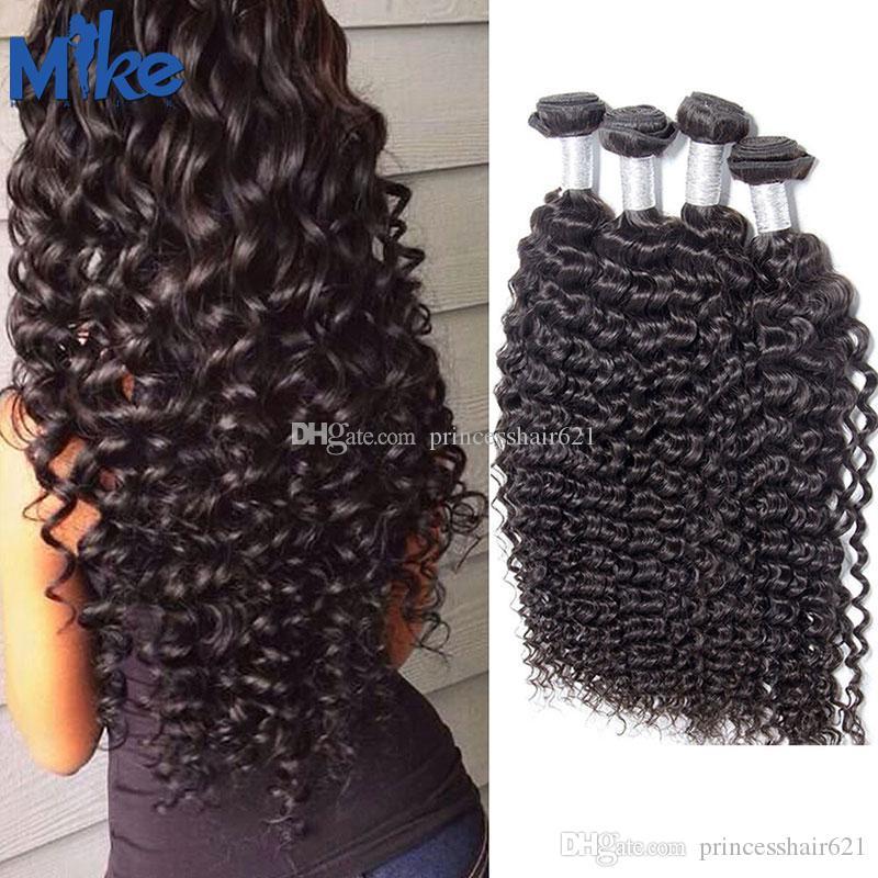 Mikehair 4 Bundles Brasiliano Deep Wave Weaves Weaves Mink Brazilian Hair Bundles Deal Deal indiano indiano peruviano Malesian non trasformato wefts