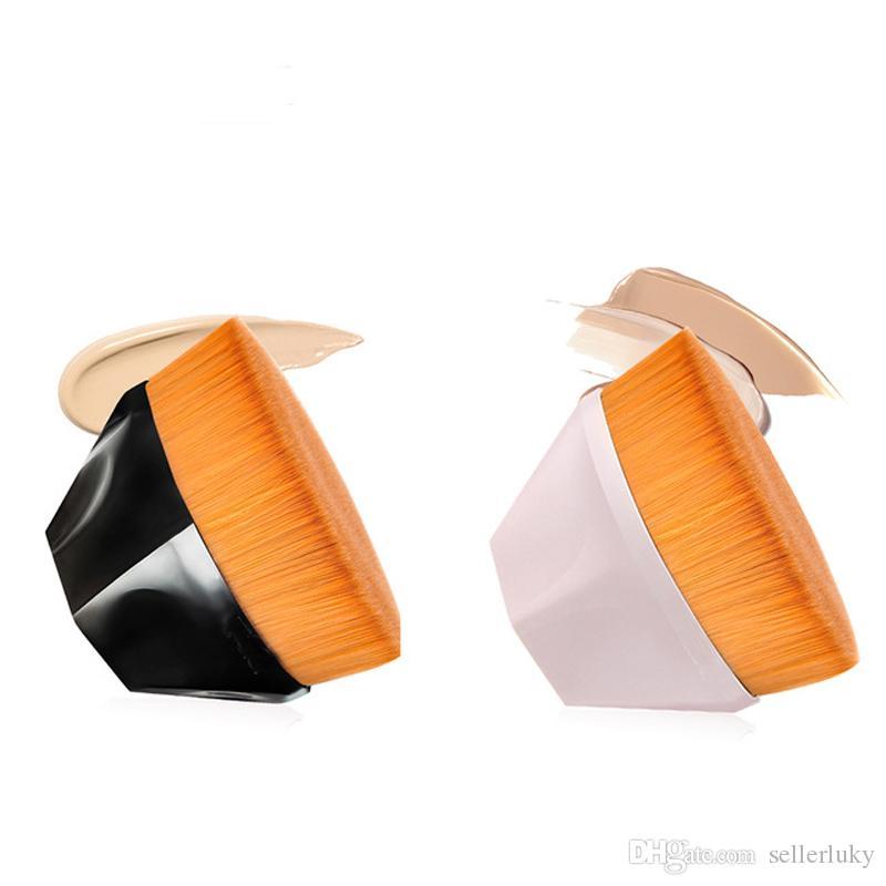 NO.55 فرشاة الأساس السائل أدوات التجميل مؤسسة ماكياج فرشاة شكل الماس التعامل مع الشعر الاصطناعية الناعمة