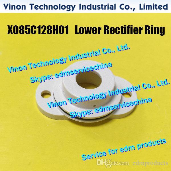 X085C128H01 М.В. Нижний Head Rectifier кольцо (новый тип) для Mitsubishi MV1200, MV2400 X085-C128-H01,2210002898 MV EDM часть обложки для серии MV