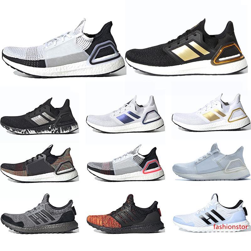 Ultra 5.0 6.0 Homens Running Shoes Ultra 19 das sapatilhas dos homens Preto Laser Red Gold Refract treinadores desportivos Tamanho 36-45