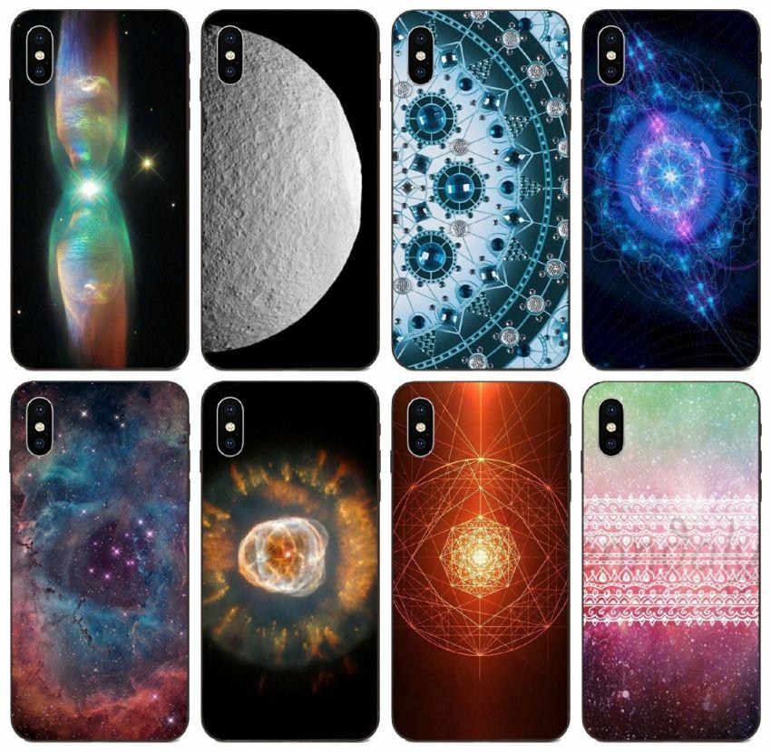 iPhone [TongTrade] Mint nebulosa Mandala Capa Para 11 Pro Max X XS 8s 7s 6s 5s Além disso Galaxy A6 A60 A6S Huawei Companheiro 10 20 Pro HTC Vida U11