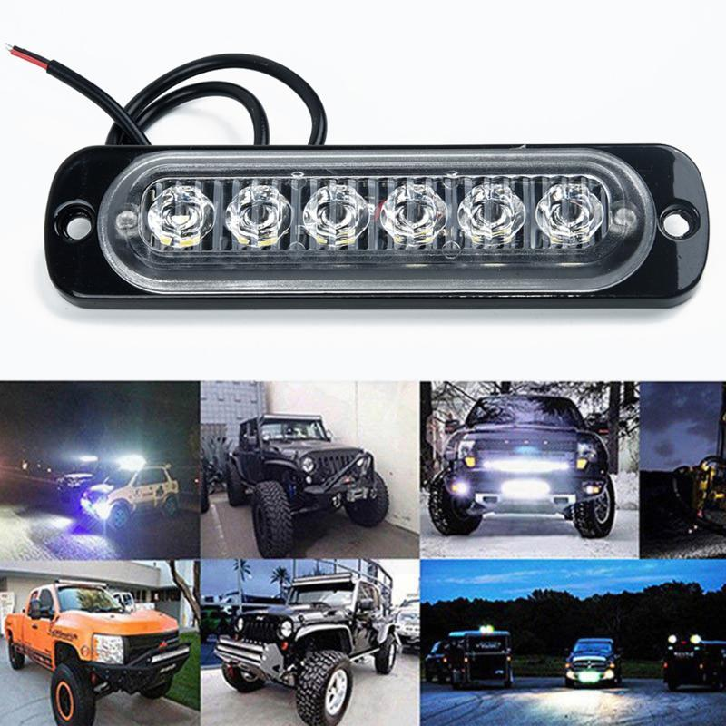 6 LED Light Work Bar Lamp Driving Fog Car Emergency Lights Offroad SUV 4WD Auto Car Boat Truck Strobe LED Warning Light