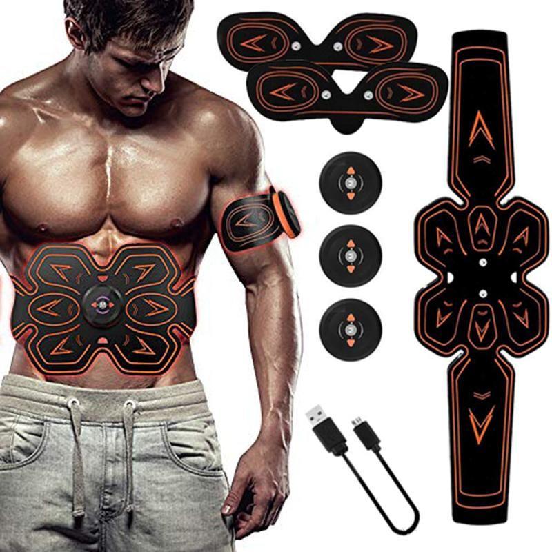 ABS تحفيز العضلات الحبر البطن التنغيم الحزام كهربي EMS التدريب الرئيسية مكتب معدات اللياقة البدنية (USB شحن)