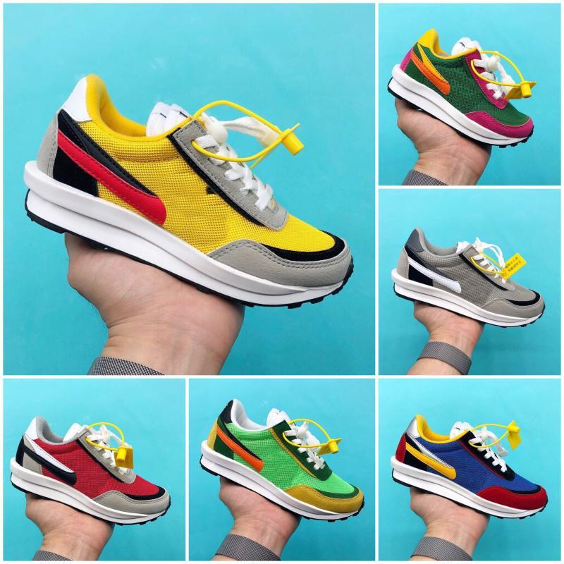 Nike air max force fly 2020 Nova Sacai x sapatos LDWaffle Crianças Correndo Rapazes Meninas Verde Gusto Sneaker Waffle verde pinheiro Sapatilhas Waffle Sports Trainers