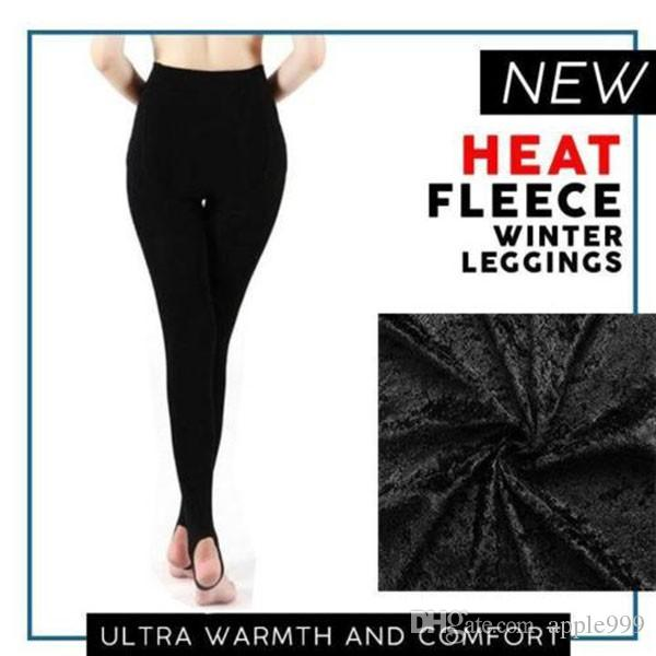 Fashion Women Heat Fleece Winter Stretchy Leggings Warm Fleece Lined Slim Therma