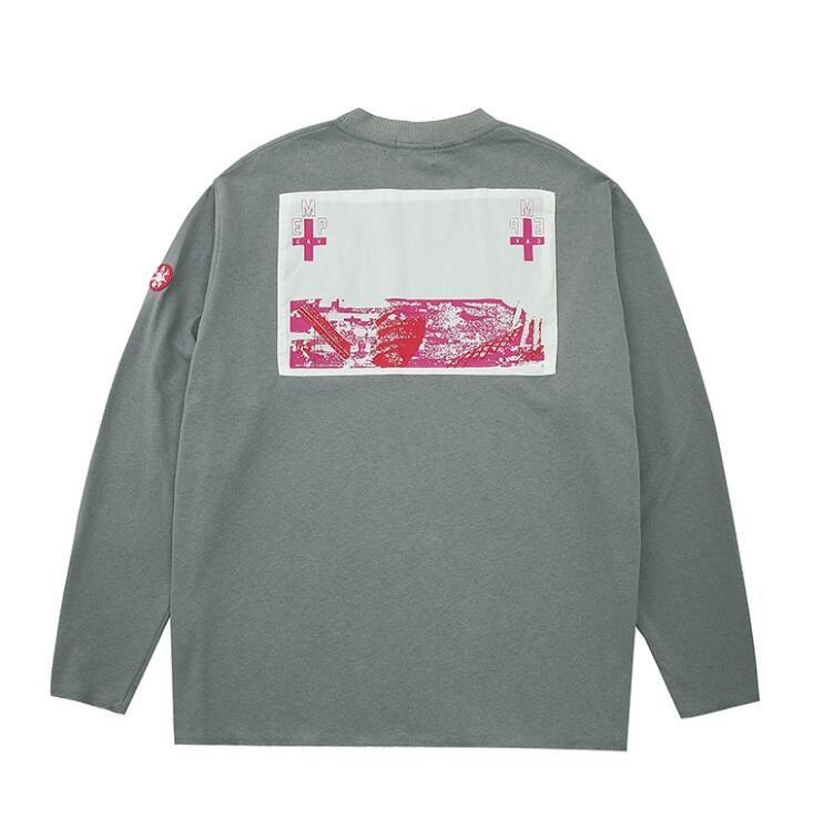 Japonaise Tide Marque en vrac manches longues T-shirts Hip-hop rue des hommes et des femmes O-cou à manches longues T-shirts Undershirt CE Couples Tops