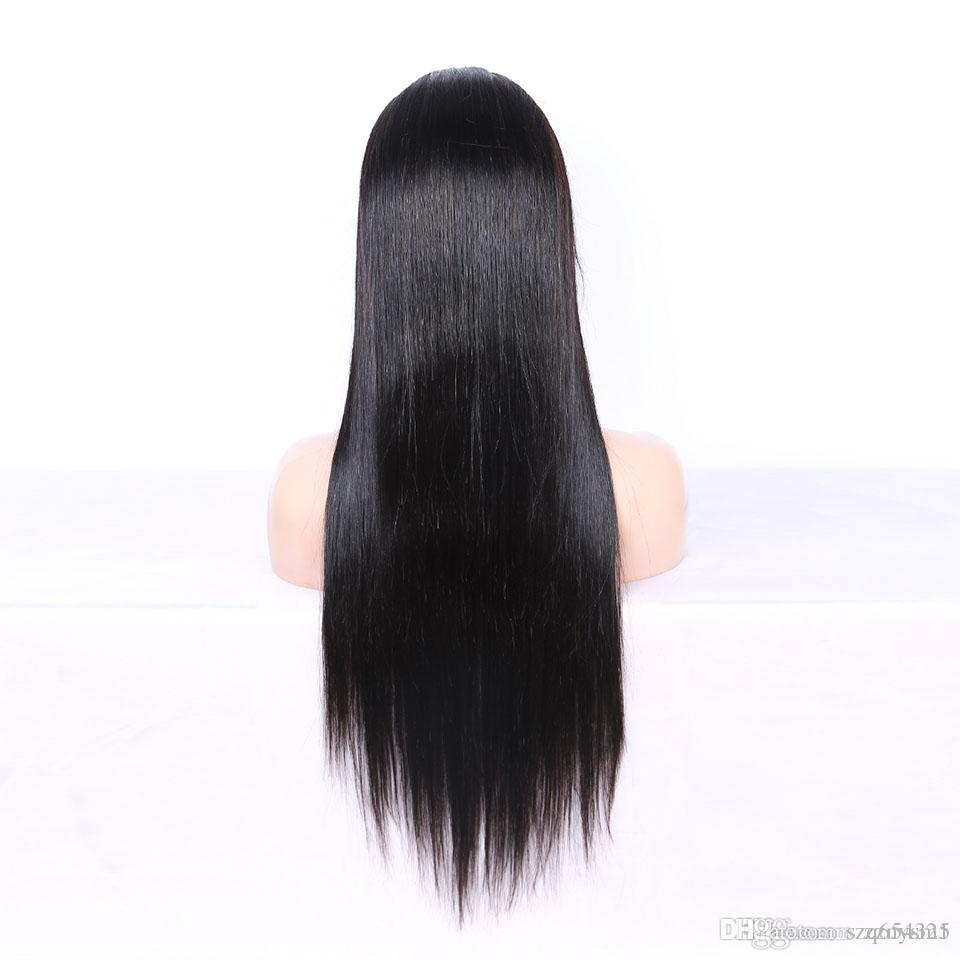 180% Density Long Straight Hair WigsStraight Lace Front Wig 13x4 Malaysia Remy Full Lace Human Hair Wigs Black Women