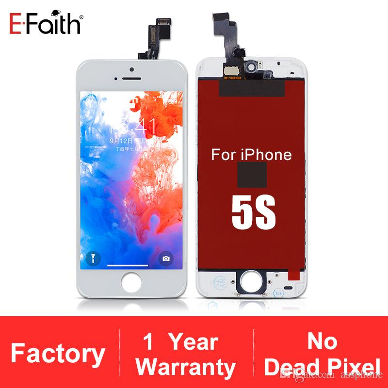 LCD Display Touch Screen Digitizer Full Assembly for iPhone 5/5S/5C Replacement Repair Parts & Free Shipping