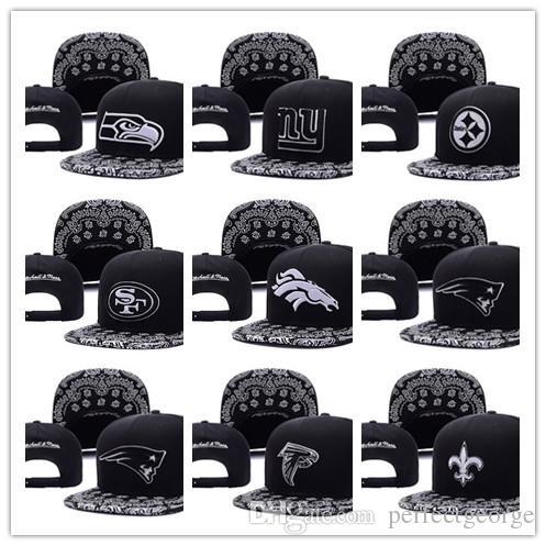 Ücretsiz Kargo toptan New Men Basketbol Snapback Beyzbol Snapbacks Futbol Şapka Erkek Düz Ayarlanabilir Spor sırasını karıştırmak Caps